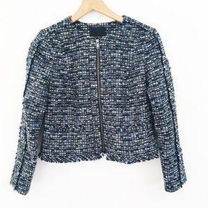 Banana Republic Full Zip Tweed Jacket 4